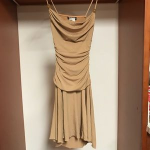 Shimmery Tan Party/Cocktail Dress | S